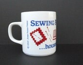 Sewing Mug 80s Funny Quilters Coffee Cup Seamstress Gift Sewing Gift Attitude Quote Mug