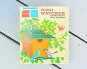 Vintage Tupper Toys Bird Watcher Birdhouse and Bird Feeder 1960s Tupperware for Kids Educational Toy Bird House