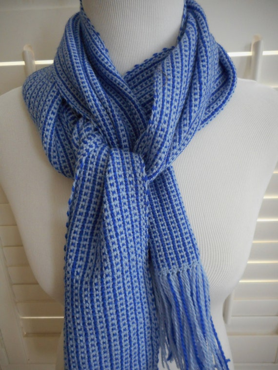 handwoven wool scarf handwoven scarf winter scarf