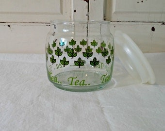 Vintage Tea Canister | Glass Container