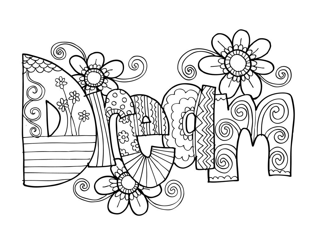 coloring pages dreaming - photo#19