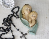 Vintage Madonna and Child Plaque From Rome