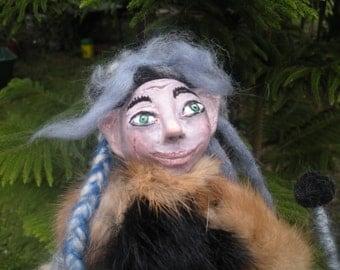 Forest Troll, Wizard, Elf ,OOAK, Art Doll