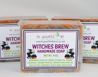 Witches Brew Cold Process Soap Bar