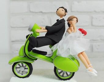 Custom Cake Topper -Vespa Wedding Cake Topper-