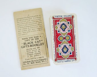 Antique Fortune Telling Cigarette Card Deck, Carrreras Lenormand Cards, Vintage Fortune Teller Cards, Lenormand Fortune Teller Cards
