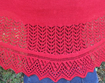 Knit Shawl Pattern:  The MuckleRow Long Wingspan Shawl