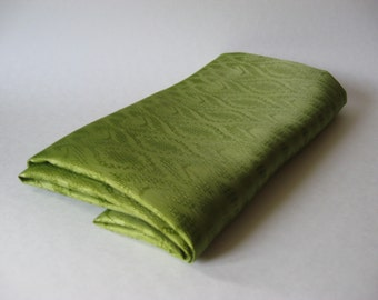 Durable woven avocado green vintage fabric shiny regency doublesided weave 2 yards plus