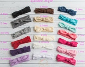 Baby Headbands, Square knot & Dots  Head wraps, Baby Head wraps, Jersey Knit Headwraps, Baby Headbands, Knott Headband,