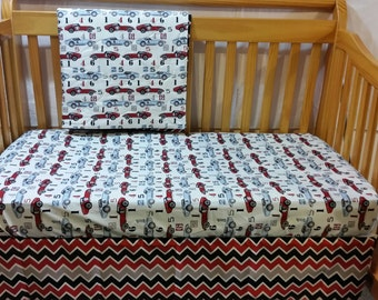 Baby Crib Bedding, Boy, Toddler Bedding, Speedster, Riley Blake, Bedding, Crib Skirt, Crib Sheet, Bumper Pads, Sheet, Case