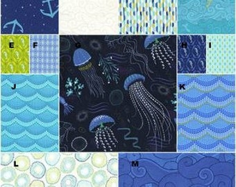 Baby Crib Bedding, Boy, Toddler Bedding, Ocean, Sea Horse, Into The Deep,  Crib Skirt, Fitted Sheet, Changing Pad Cover, Bumper Pads,