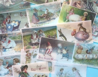 VALUEPACK 5 Doz EASTER vintage edible image  wafer papers for your iced cookies, cakes, bars, chocolates.