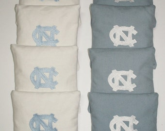 North Carolina Tar Heels UNC NC Cornhole aca Embroidered Bean Corn Toss Bags Regulation New