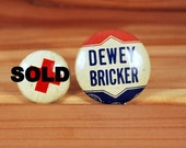 Campaign Button Pin Dewey Bricker Pin