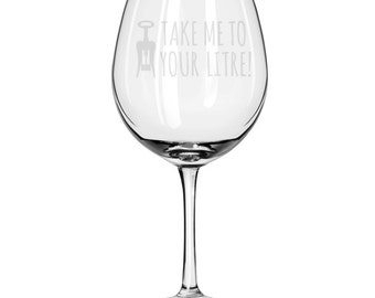 Oversized Red Wine Glass-18 oz.-6744 Take Me To Your Litre!