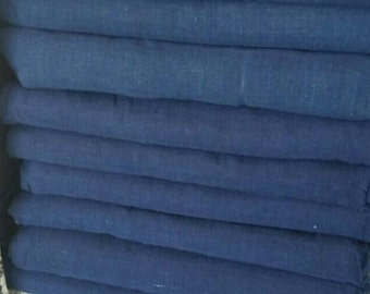 HandWoven Plant Dye Cotton Fabric ~ Indigo