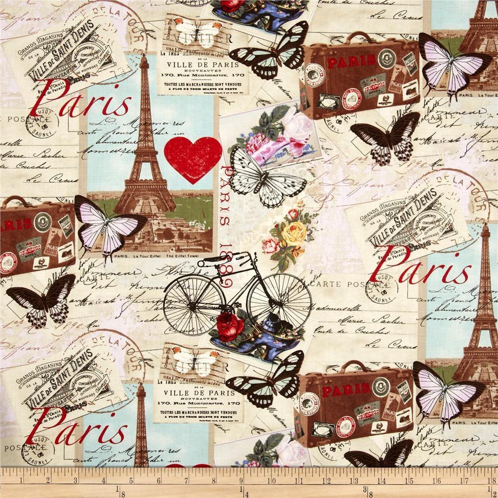 April In Paris C2299 Antique Timeless Treasures Fabric