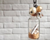 I am free- beach in a bottle pendant necklace