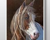 Horse Art Print - Horse Poster - Paint Horse Painting - Horse Wall Art - Horse Decor - Animal Wall Art - Horse Gifts - Pet Art