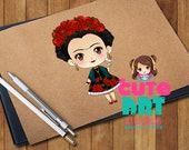 Kawaii Frida Kahlo Chibi Digital File