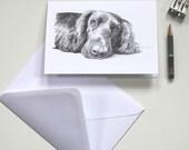Notecard - Callie - Cocker Spaniel Pencil Drawing