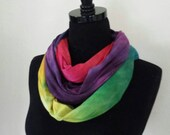 Infinity Scarf - Rainbow Muck/Ice Dyed