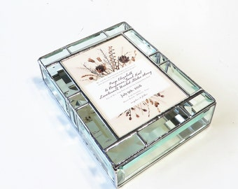 Stained Glass Keepsake Gift Box Wedding Invitation 8x11x2 Handmade Custom Made-to-Order
