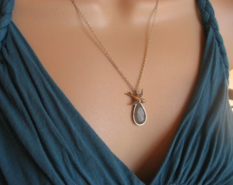 Silver Sparrow and Turquoise Colored Necklace