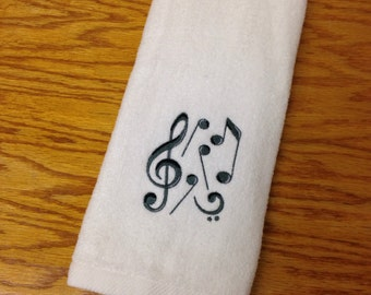 Music Note Bathroom Hand Towel