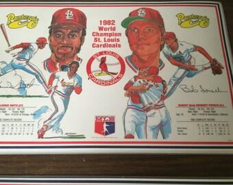 St. Louis Cardinals 1982 World Series Champion Panteras Pizza Placemats