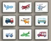 Brody Transportation boys art, boys transportation art, brody bedding art prints, airplanes nursery art, childrens art prints, kids wall art