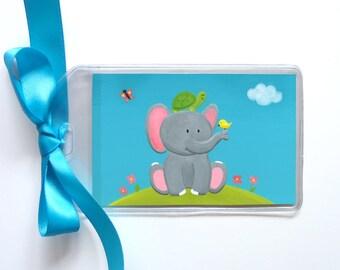 Elephant, Turtle, Bird Luggage Tag - Fun Bookbag Tag