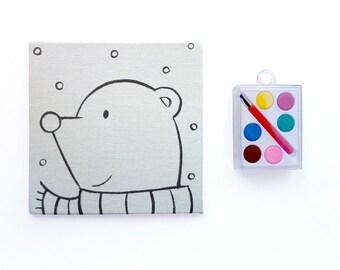 Polar Bear Art Stocking Stuffer - DIY Paint Kit