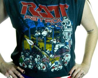 Vintage Ratt shirt 80s Ratt Patrol Metal Rock N Roll Heavy Metal Boho Hippie Rocker 80s tee 80s shirt Band tee Iron Maiden Slayer Nirvana