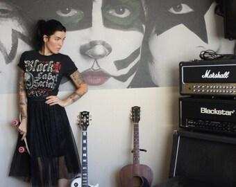 Olivia Paige -  SALE Black Label Society punk rock skeleton   Dress