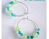 50% SALE Silver hoop earrings