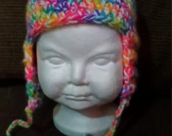 Hand crochet child's hat.
