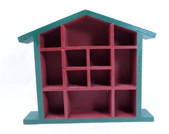 Shadow Box House Curio Shelf Vintage 80s