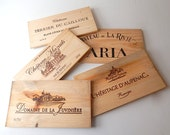 5 French Wine Crate Ends  Made of Pine Sold as Craft Material So Many Uses