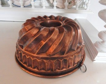 Vintage Copper Mould from Prague