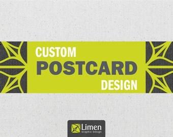 Custom Postcard Design, Graphic Design, Custom Design, Promotional Card, Custom Postcards, Post Card Design, Invitation Postcard, Postcard