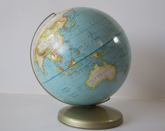 Vintage Rand McNally Political 12 Inch World Globe - Made in USA - Classroom Homeschool Tool - Man Cave Decor