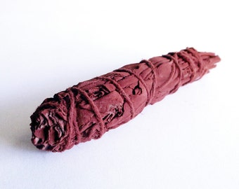 Dragons Blood White Sage - natural incense, herbal incense, smudging supply, Wiccan, witchcraft supply, energetic clearing, house blessing