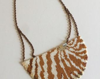 Nautilus Shell Beadwork Necklace