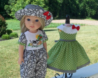 "WELLIE WISHER® PDF Sewing Pattern: A Very Wellie Welcome! / Sewing Pattern for 14"" American Girl  Wellie Wishers®"
