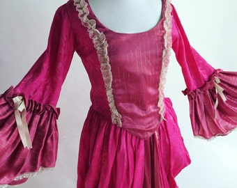 Rococo Pink Marie Antoinette Dress Vintage Hand Made Halloween Costume