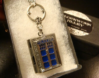 Doctor Who Tardis Book LOCKET Necklace (2024)