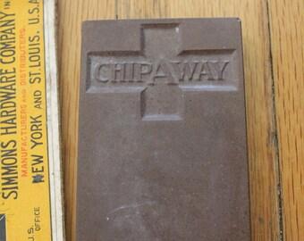 Vintage 30's Chipaway Razor Hone Sharpening Stone