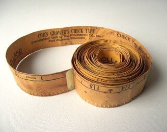 Corn Growers Check Tape / 1950s Agriculture Tape / Guide to Growing Corn / Farming History Agricultural Memorabilia / Highsmith Co Ltd