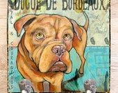 Pet Portrait Dogue De Bordeaux Leash Hook